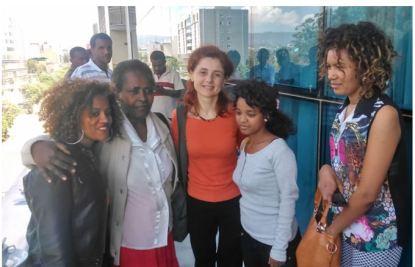 """Me he alegrado de encontrado de encontrar mujeres entre los colegas. Como decía una campaña de las Naciones Unidas, """"Igualdad para las mujeres es progreso para todos"""""""