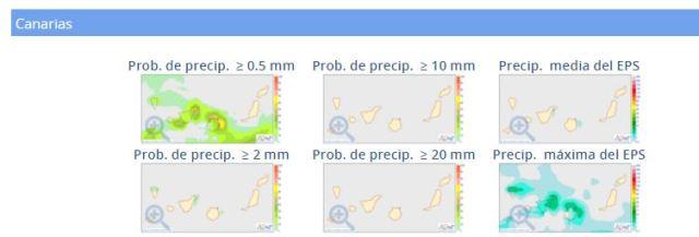 probabilidad precipitación canarias