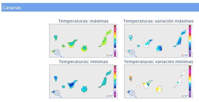 Temperaturas Canarias