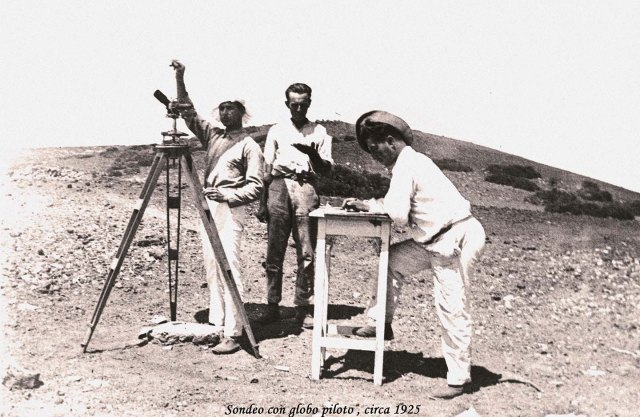 Tracking a rawinsonde at Izana Observatory in 1925