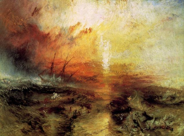 Figura 9: The Slave Ship (Slavers Throwing Overboard the Dead and Dying, Typhoon Coming On). William Turner, 1840. Museo de Bellas Artes, Boston.