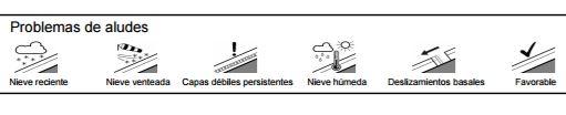 Escala de problemas de aludes. Boletín de información nivológica y de peligro de aludes .