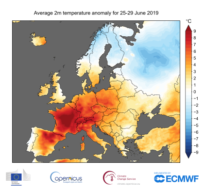 map_era5_daily_t2m_anom_europe_25-29_Jun_2019_land_only.png